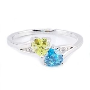 Jewelry - Sterling Silver Double Heart Promise Ring
